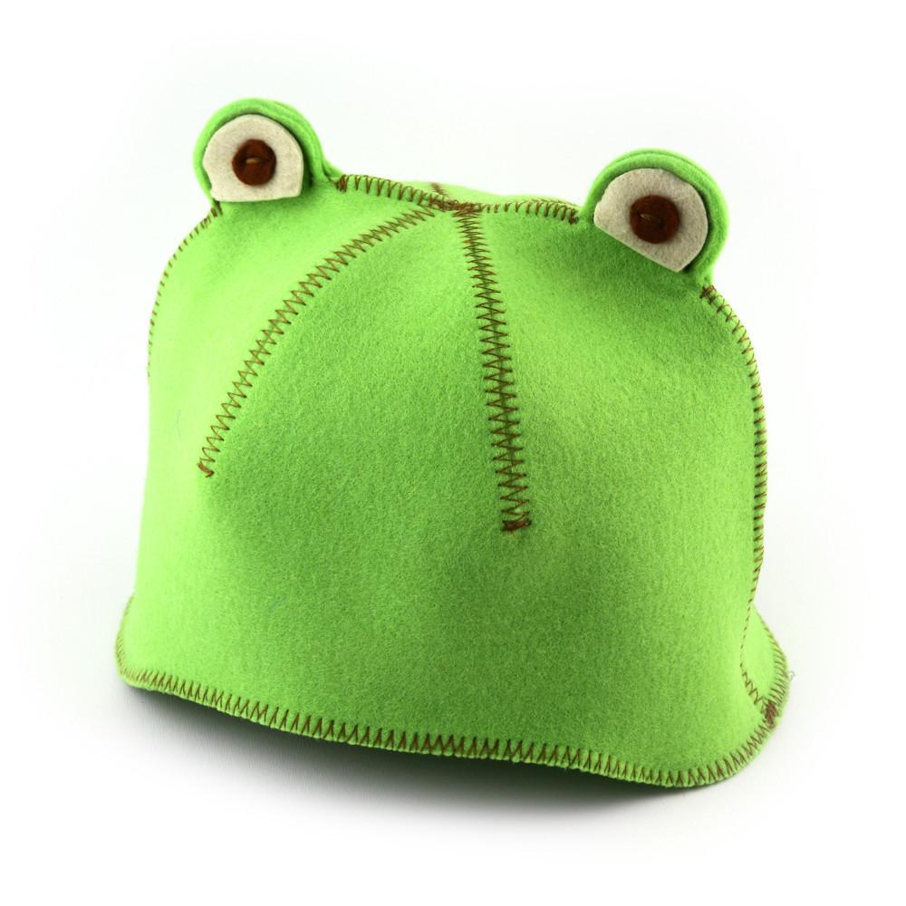 """Банная шапка Luxyart """"Лягушка"""", искусственный фетр, зеленый (LA-436)"""
