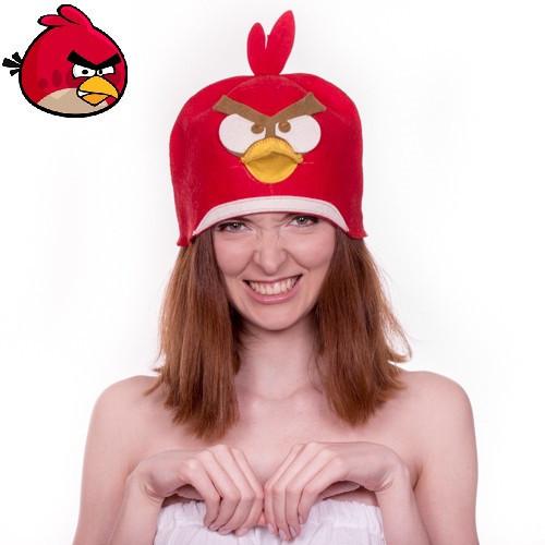 """Банная шапка Luxyart """"Птичка"""", искусственный фетр, красный (LA-480)"""