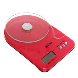 Весы электронные кухонные SCА 301 Красный 1em001937, КОД: 897755
