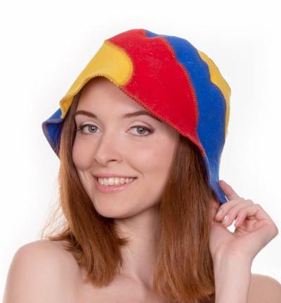 """Банная шапка Luxyart """"Радуга"""", натуральный войлок, цветной (LA-085)"""
