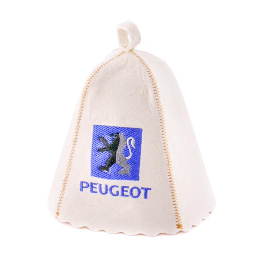 """Банная шапка Luxyart """"Peugeot"""", натуральный войлок, белый (LA-191)"""