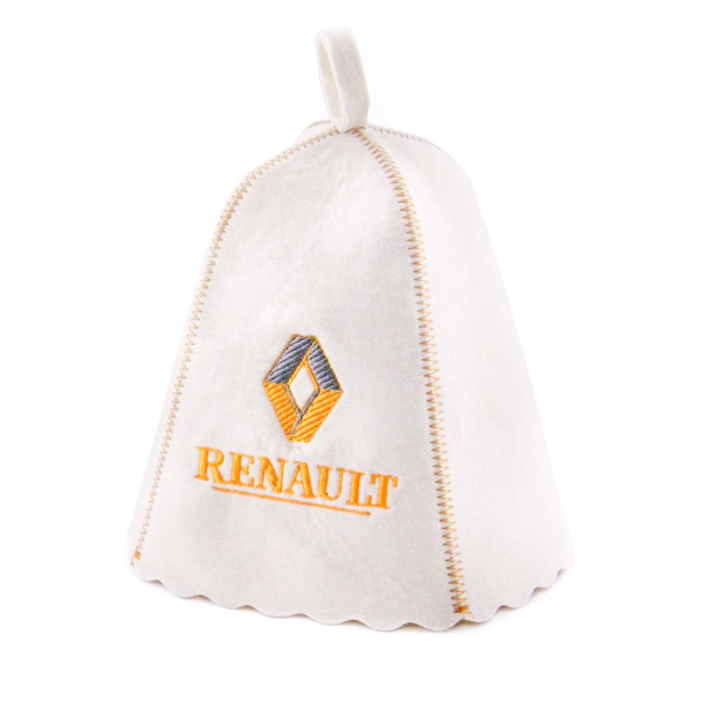 """Банная шапка Luxyart """"Renault"""", натуральный войлок, белый (LA-192)"""