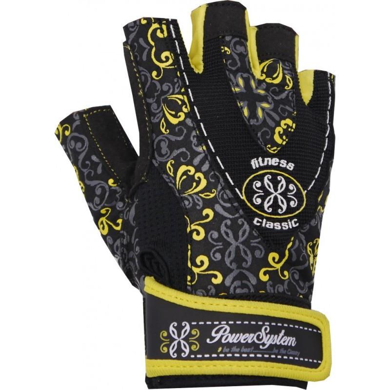 Рукавички для фітнесу і важкої атлетики Power System Classy Жіночі PS-2910 M Black/Yellow