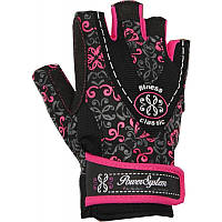 Перчатки для фитнеса и тяжелой атлетики Power System Classy Женские PS-2910 S Black/Pink