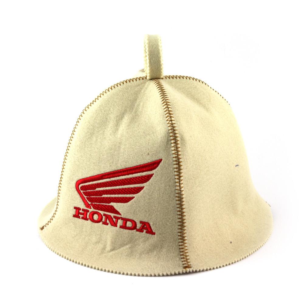 """Банная шапка Luxyart """"Honda"""", искусственный фетр, белый (LA-306)"""