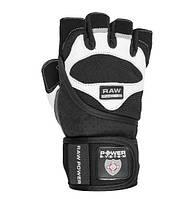 Перчатки для тяжелой атлетики Power System Raw Power PS-2850 L Black/White, фото 1