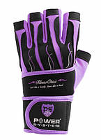 Перчатки для фитнеса и тяжелой атлетики женские Power System Fitness Chica PS-2710 XS Purple, фото 1