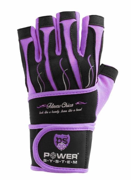 Перчатки для фитнеса и тяжелой атлетики женские Power System Fitness Chica PS-2710 S Purple
