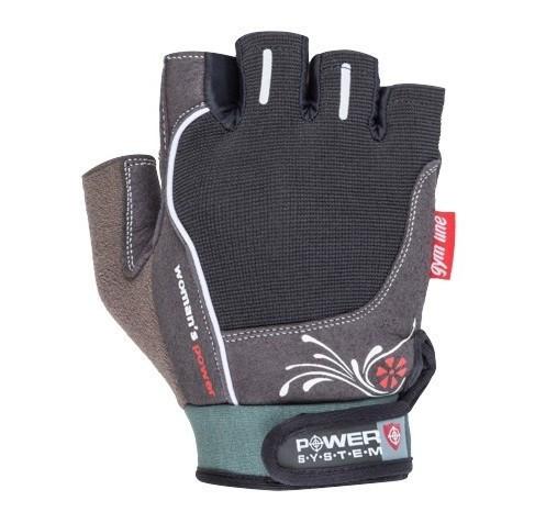 Перчатки для фитнеса и тяжелой атлетики Power System Woman's Power PS-2570 M Black