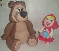 """Авторская сахарная фигура """"Медведь""""1шт Галетте -01409"""