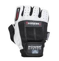 Перчатки для фитнеса и тяжелой атлетики Power System Fitness PS-2300 S Black/White, фото 1