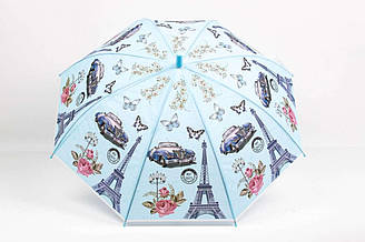 Зонт детский Париж Голубой LA-RST0404, КОД: 972812