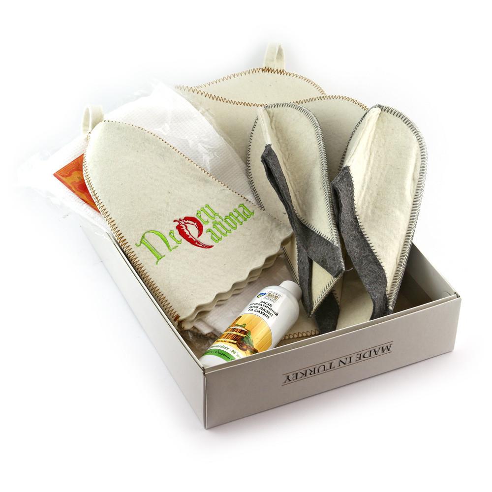 Подарочный набор для сауны Luxyart №2 Перец района, для него, 5 предметов (N-110)