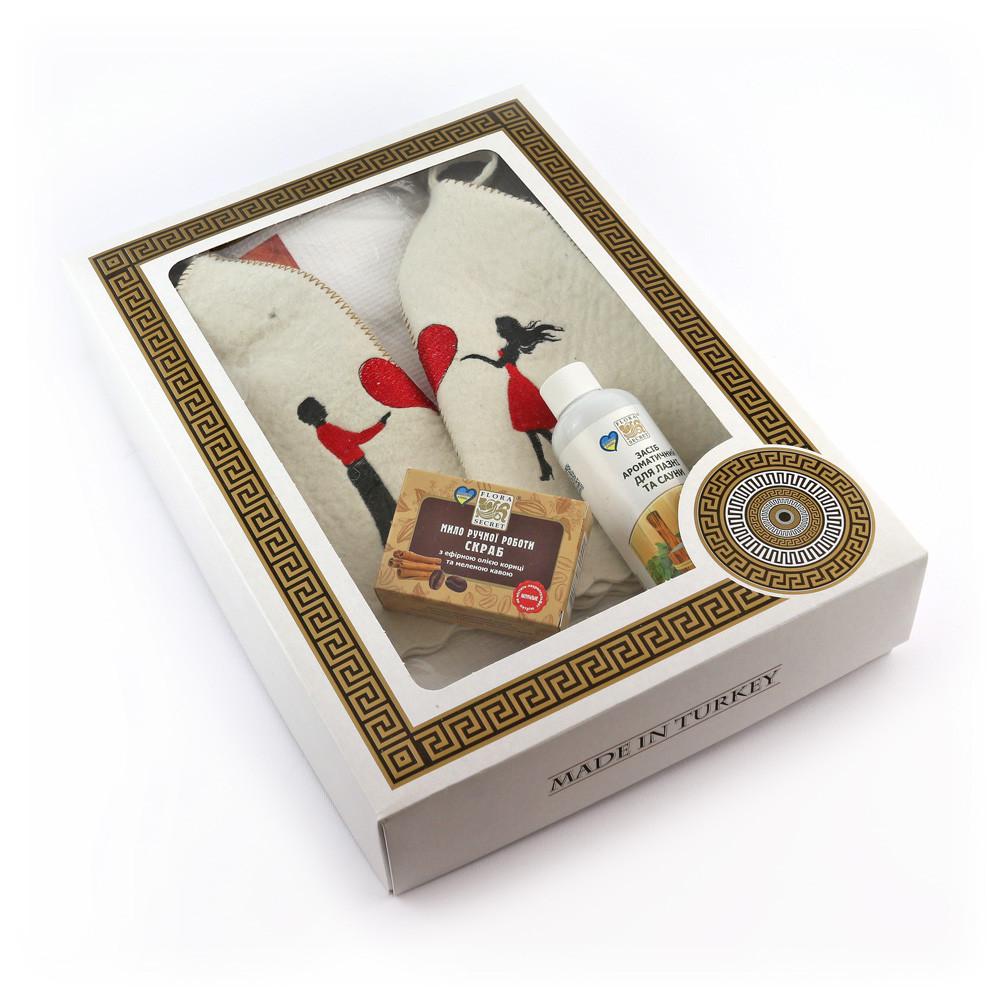 Подарочный набор для сауны Luxyart №3 Влюбленные, парный 6 предметов (N-113)