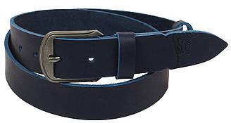 Кожаный ремень Skipper 110-130 x 3.8 см Синий 1088-38, КОД: 390010
