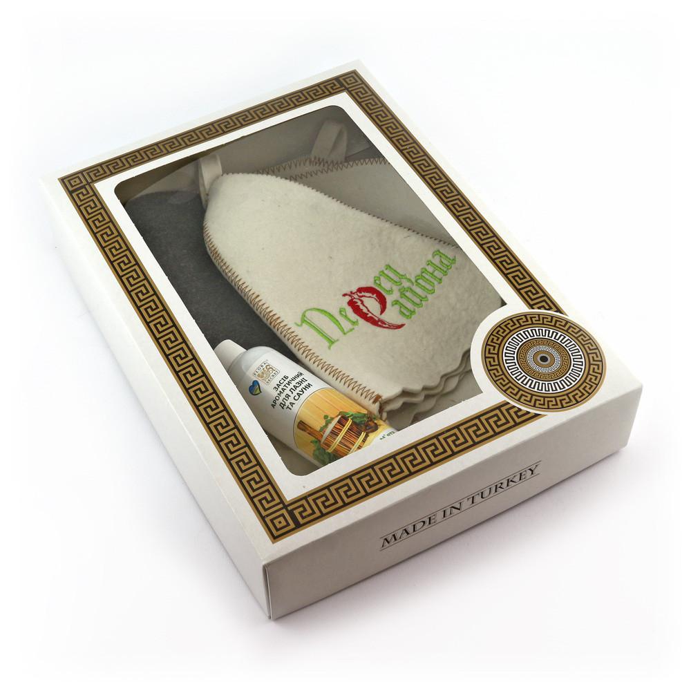 Подарочный набор для сауны Luxyart №6 Перец района, для него, 4 предмета (N-126)