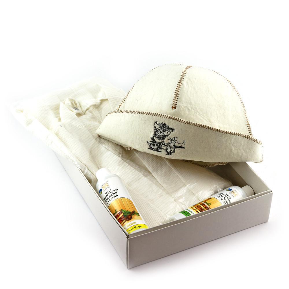 Подарочный набор для сауны Luxyart  №10 Банщик, для него, 3 предмета (N-133)