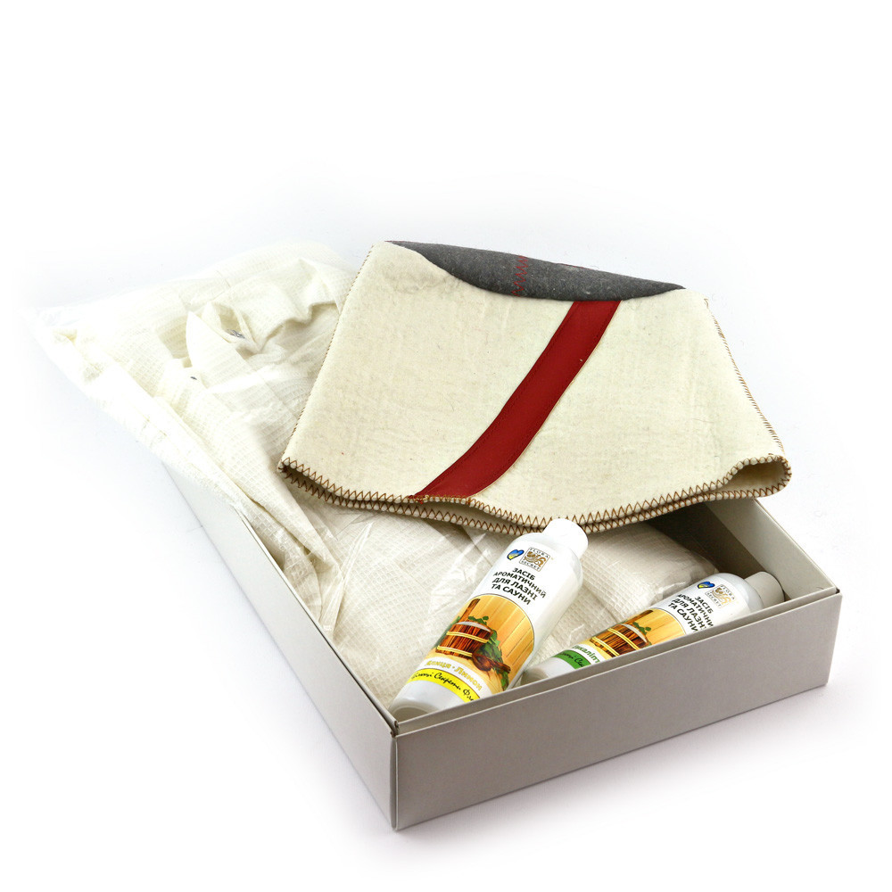 Подарочный набор для сауны Luxyart  №10 Папаха, для него, 3 предмета (N-135)