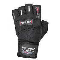 Перчатки для фитнеса и тяжелой атлетики Power System Power Grip PS-2800 S Black, фото 1