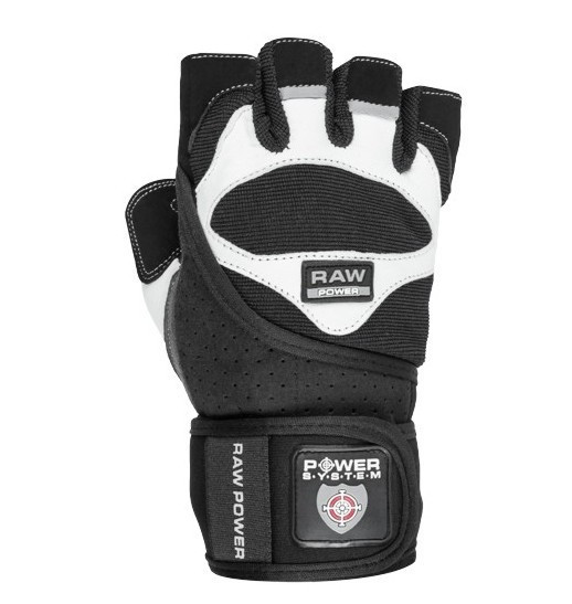 Рукавички для важкої атлетики Power System Raw Power PS-2850 Black/White