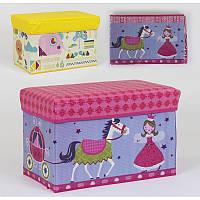 Пуфик-короб для хранения игрушек C 36527