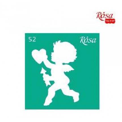 Трафарет багаторазовий ROSA TALENT № 52 самоклеючий 9*10см (1), фото 2