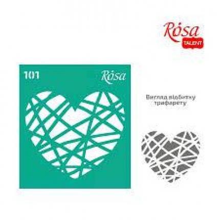 Трафарет багаторазовий ROSA TALENT № 101 самоклеючий 9*10см (1), фото 2