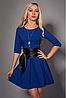 Молодежное платье с кожаным поясом