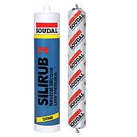 Герметик нейтральный  силикон белый SILIRUB 600мл SOUDAL (000020000000031601)
