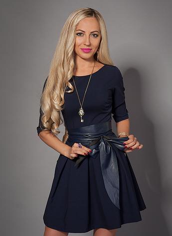 Молодежное платье с поясом, фото 2