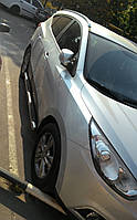 Боковые пороги труба Hyundai ix35