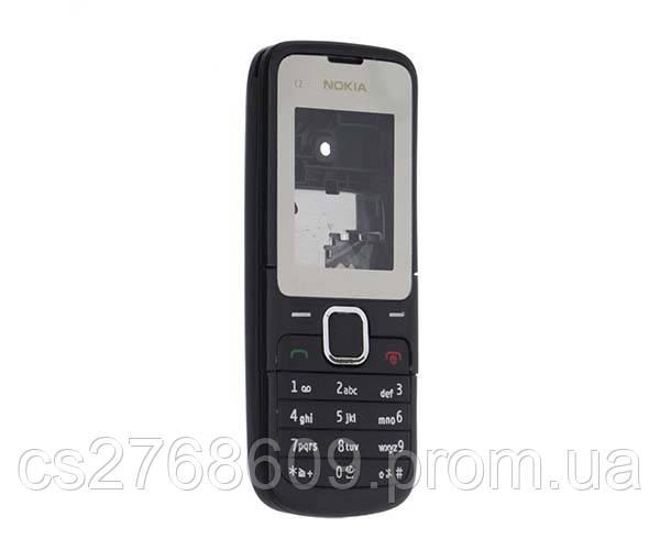 """Корпус """"А-клас"""" Nokia C2-00 чорний + кл"""