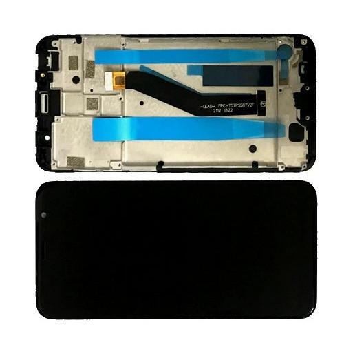 Дисплей модуль Meizu M6T M811H в зборі з тачскріном, чорний, з рамкою