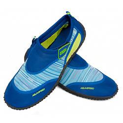 Мужские аквашузы Aqua Speed 2C 44 Темно-синий с голубым aqs289, КОД: 1209983