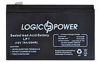 Аккумуляторная батарея LogicPower LP7 (6 месяцев гарантии) (Напряжение - 12V, сила тока - 7.0Ah, размеры - 151