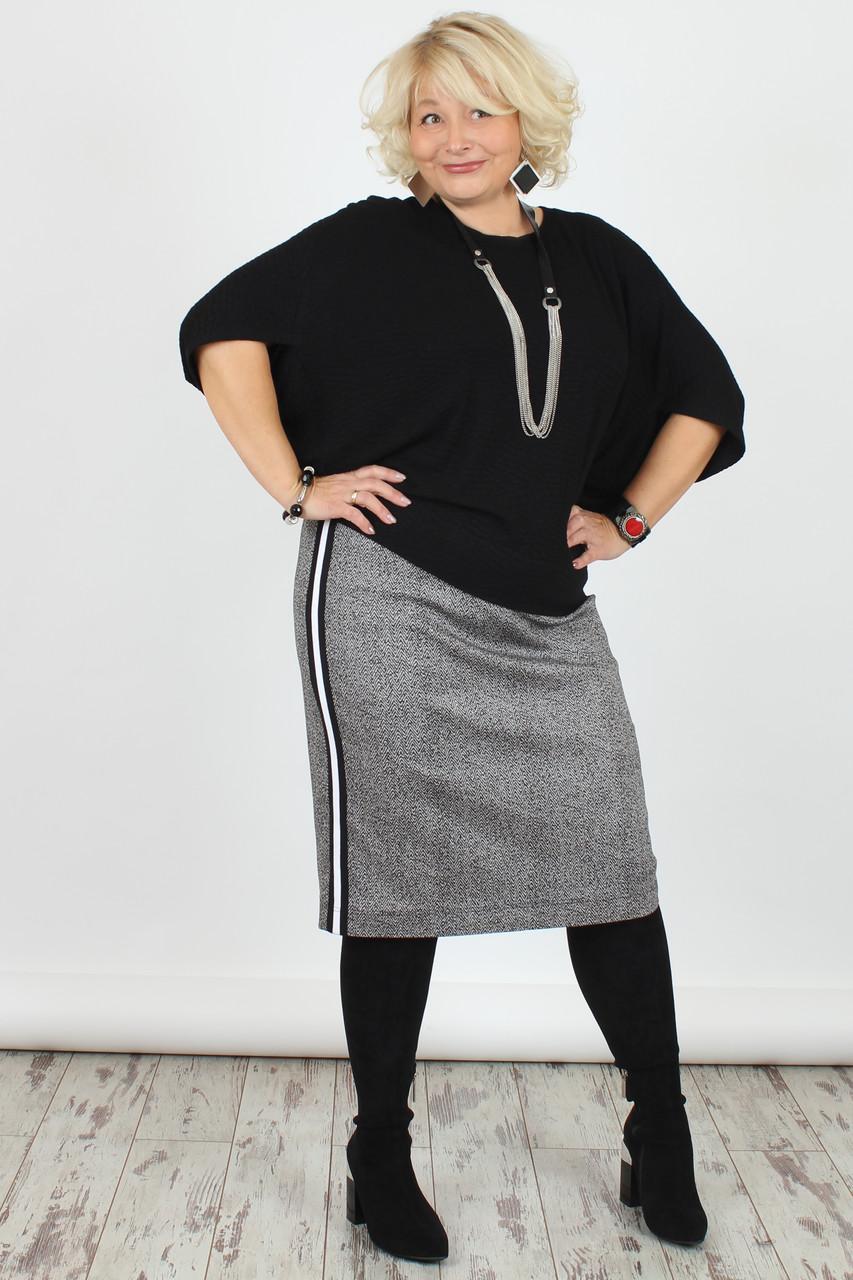 Женская юбка NadiN 1401 1 Серая 60 р 1401160, КОД: 1256495