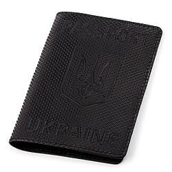 Обложка на паспорт Shvigel кожаная Черный 13931, КОД: 1127400