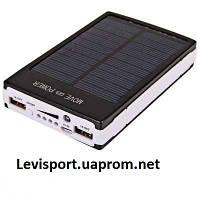 Внешний аккумулятор для телефона Power Bank Solar 15000 ma - солнечная зарядка для телефона