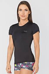 Женская спортивная футболка Radical Capri L Черная r0829, КОД: 1191823