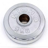 Блины для штанги хром 5кг(d=52мм) ТА-1802 OF