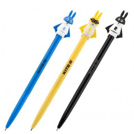 Ручка кульк. автомат. KITE K19-030-04 синя 0 7мм Pets Rabbit (36), фото 2