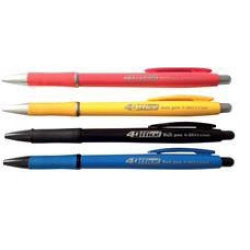 Ручка кульк. автомат. 4OFICE 4-2011 чорна 0 7мм (40)