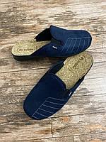 Мужские домашние тапочки inblu 42,43,44  текстиль и натуральная пробка.