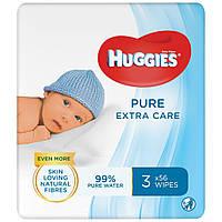 Влажные салфетки Huggies Pure Extra Care 3 х 56 шт (5029054222119)