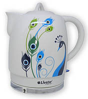 LSU-1132 Чайник керамический LIVSTAR 1,8 л (Павлин)