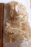 Парик карнавальный блонд  волнистые волосы