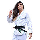 Кимоно женское для бразильского Джиу Джитсу Break Point BP Diamond Girls Белое, фото 3
