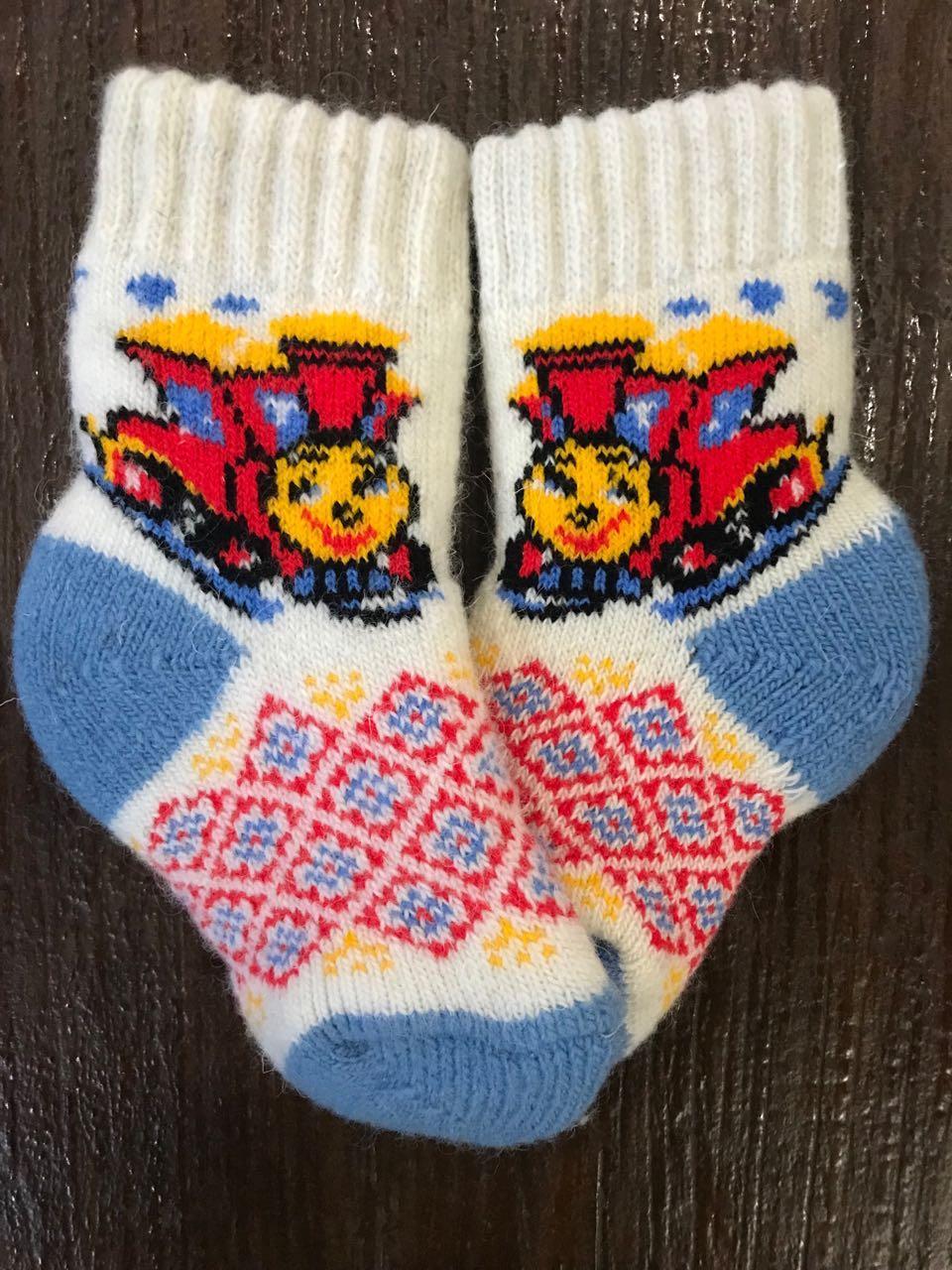 Носки из натуральной шерсти детские   от 2 до 3 лет