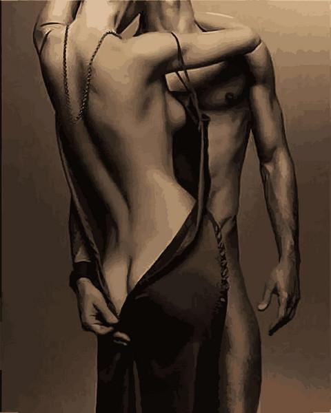 Картины по номерам 40×50 см. Мужчина и Женщина