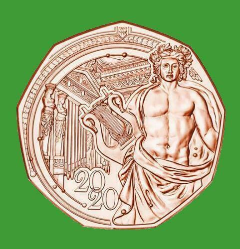 Австрия 5 евро 2020 г. 150 лет Венской филармонии, UNC.